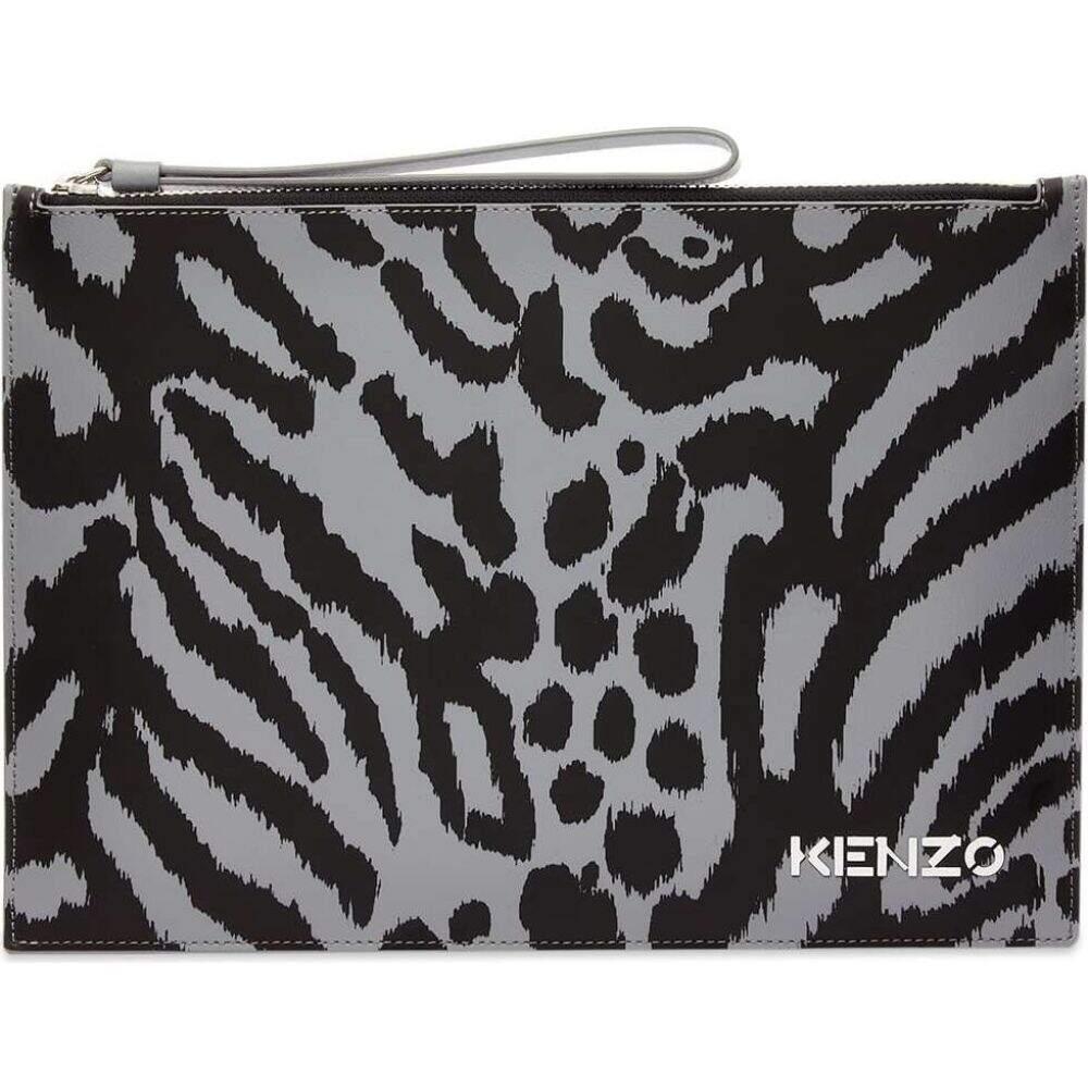 バッグ【x メンズ Leopard Document クラッチバッグ Yamamoto Kansai Kenzo Print Holder】Anthracite ケンゾー