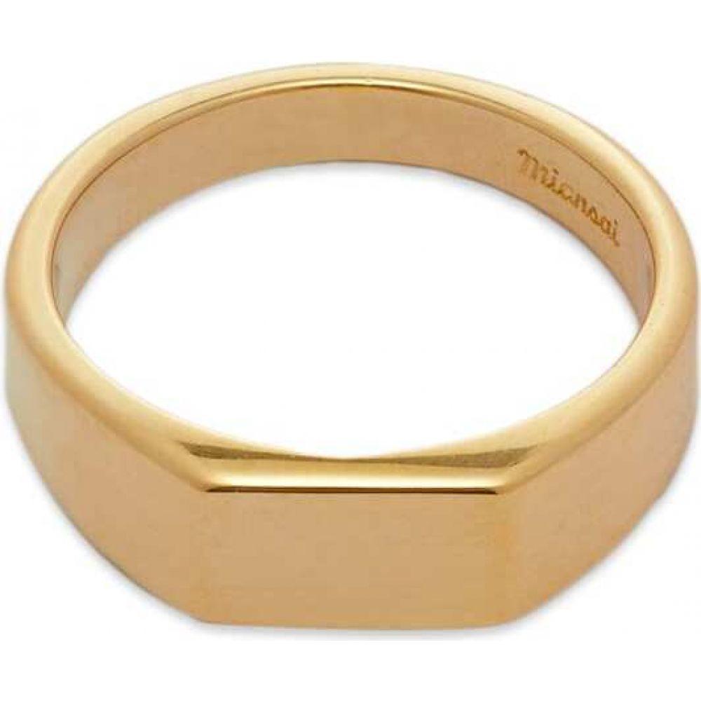 指輪・リング Miansai メンズ ミアンサイ Ring】Gold Signet ジュエリー・アクセサリー【Geo