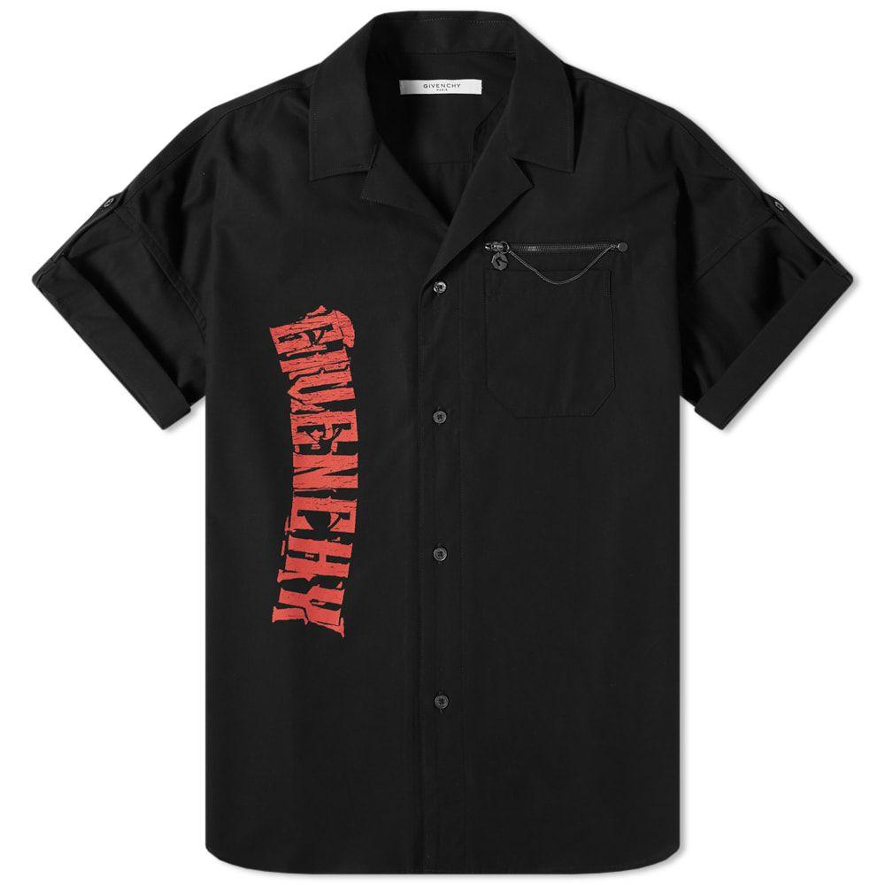 ジバンシー Givenchy メンズ 半袖シャツ トップス【short sleeve snake shirt】Black