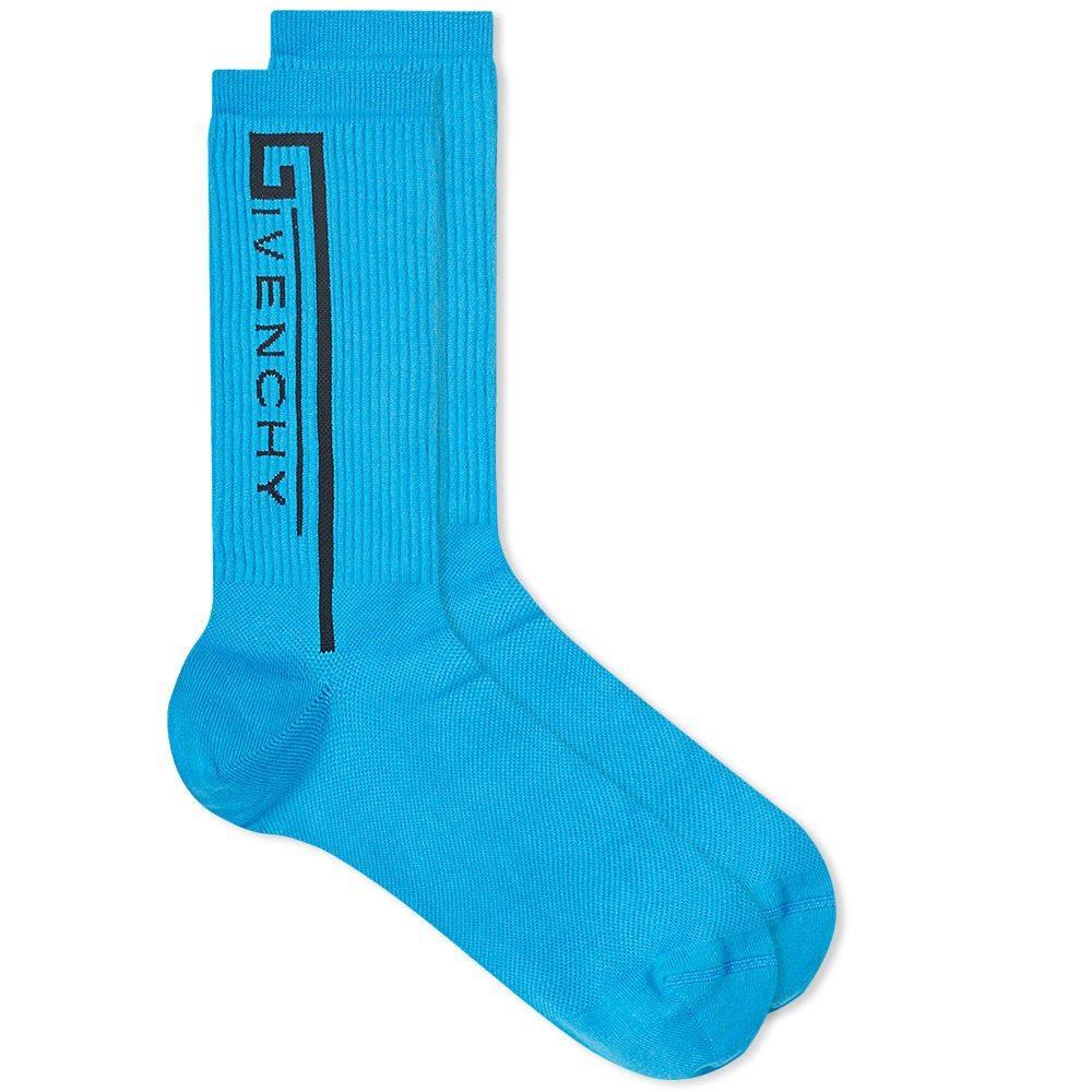 ジバンシー Givenchy メンズ ソックス インナー・下着【logo sport sock】Blue/Black