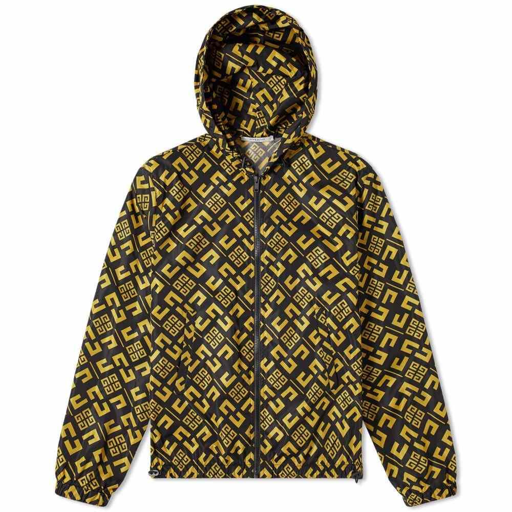 ジバンシー Givenchy メンズ ジャケット ウィンドブレーカー アウター【cubism 4g windbreaker】Black/Mustard