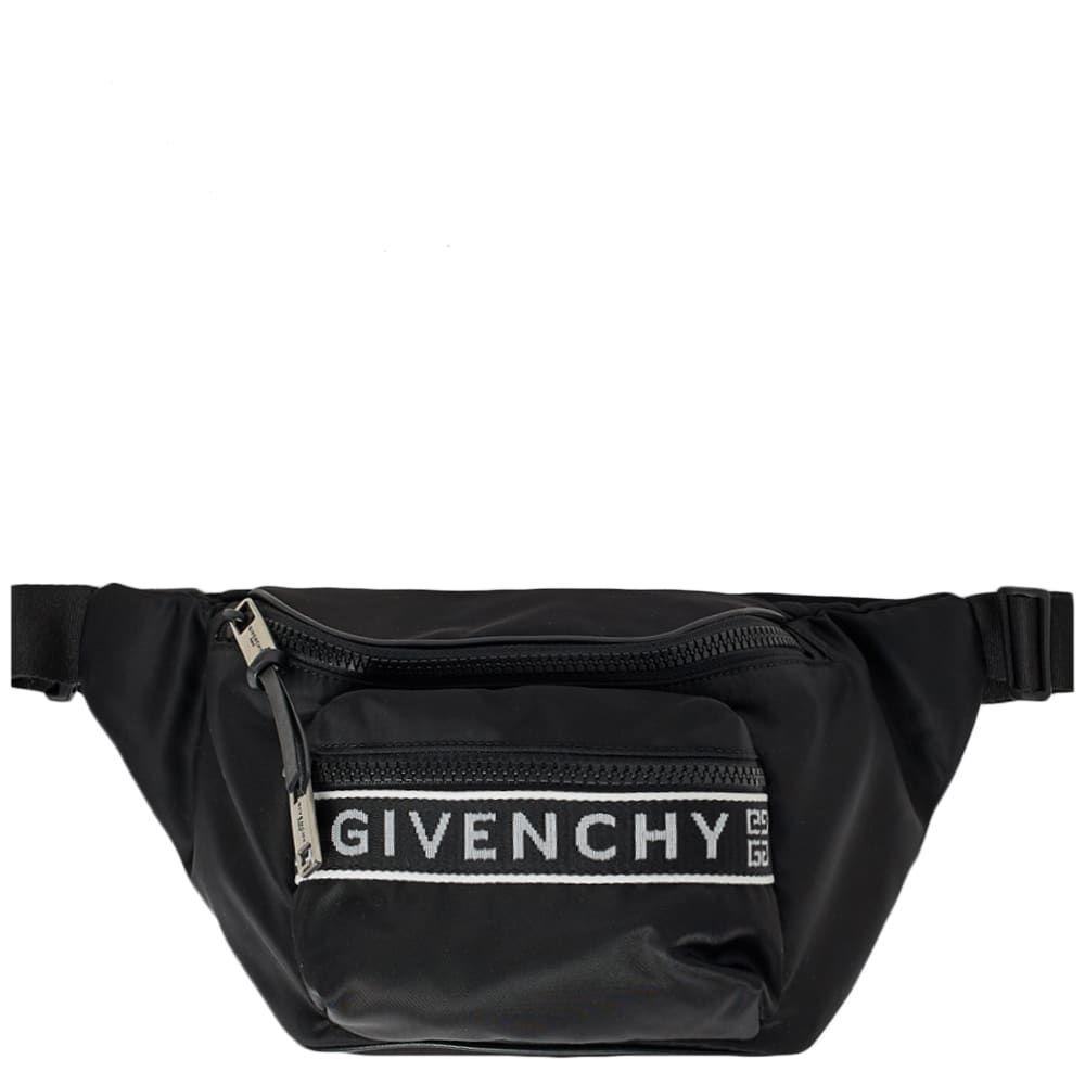 ジバンシー Givenchy メンズ ボディバッグ・ウエストポーチ バッグ【logo taping waist bag】Black/White