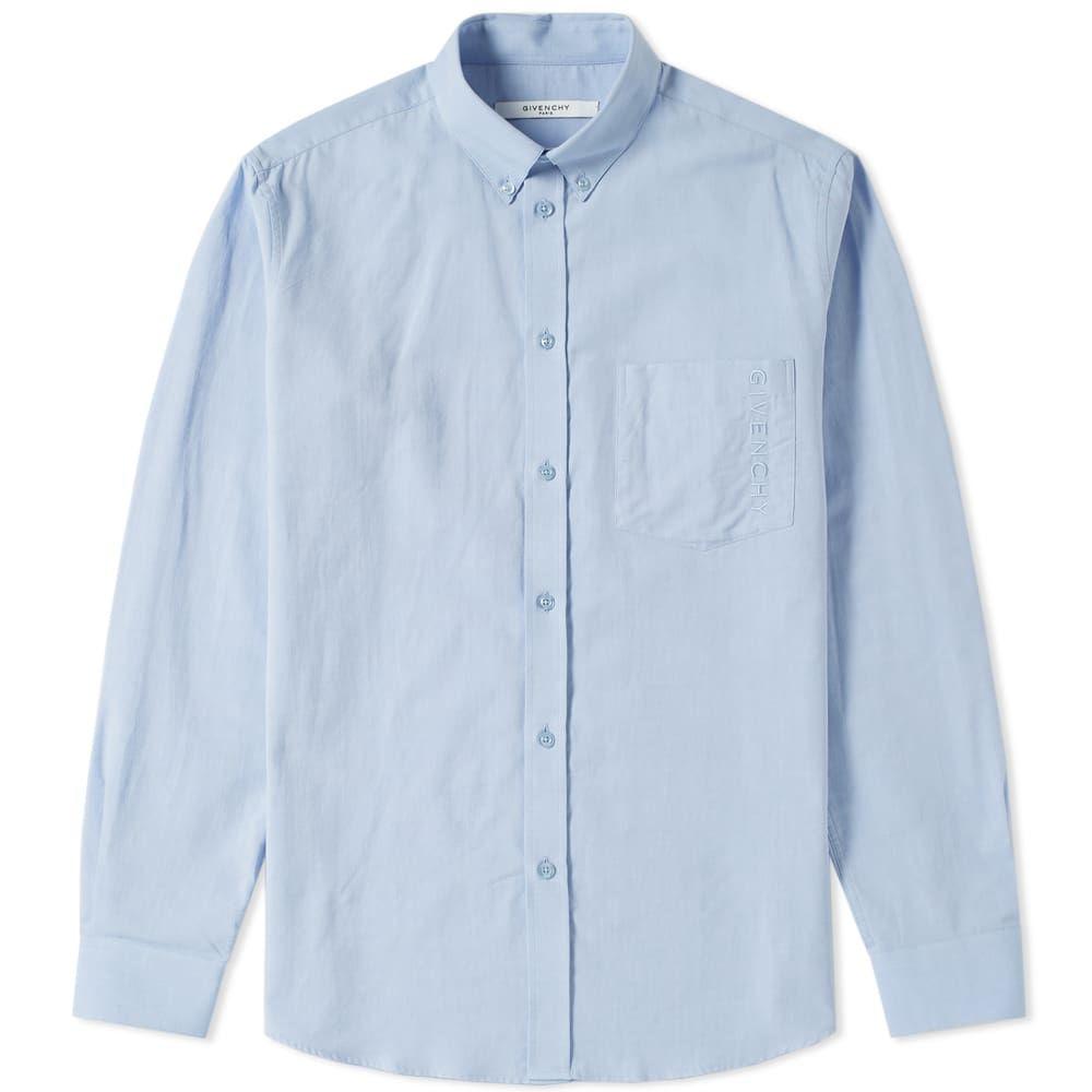 ジバンシー Givenchy メンズ シャツ トップス【pocket logo oxford shirt】Light Blue