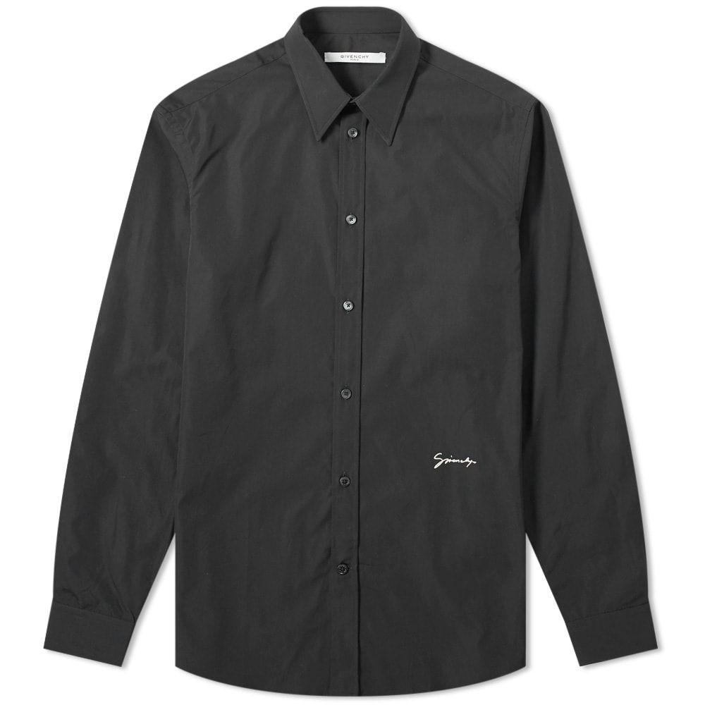 ジバンシー Givenchy メンズ シャツ トップス【signature logo shirt】Black/White