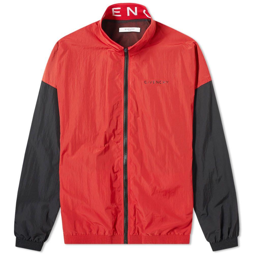 ジバンシー Givenchy メンズ ジャージ アウター【collar logo track jacket】Red