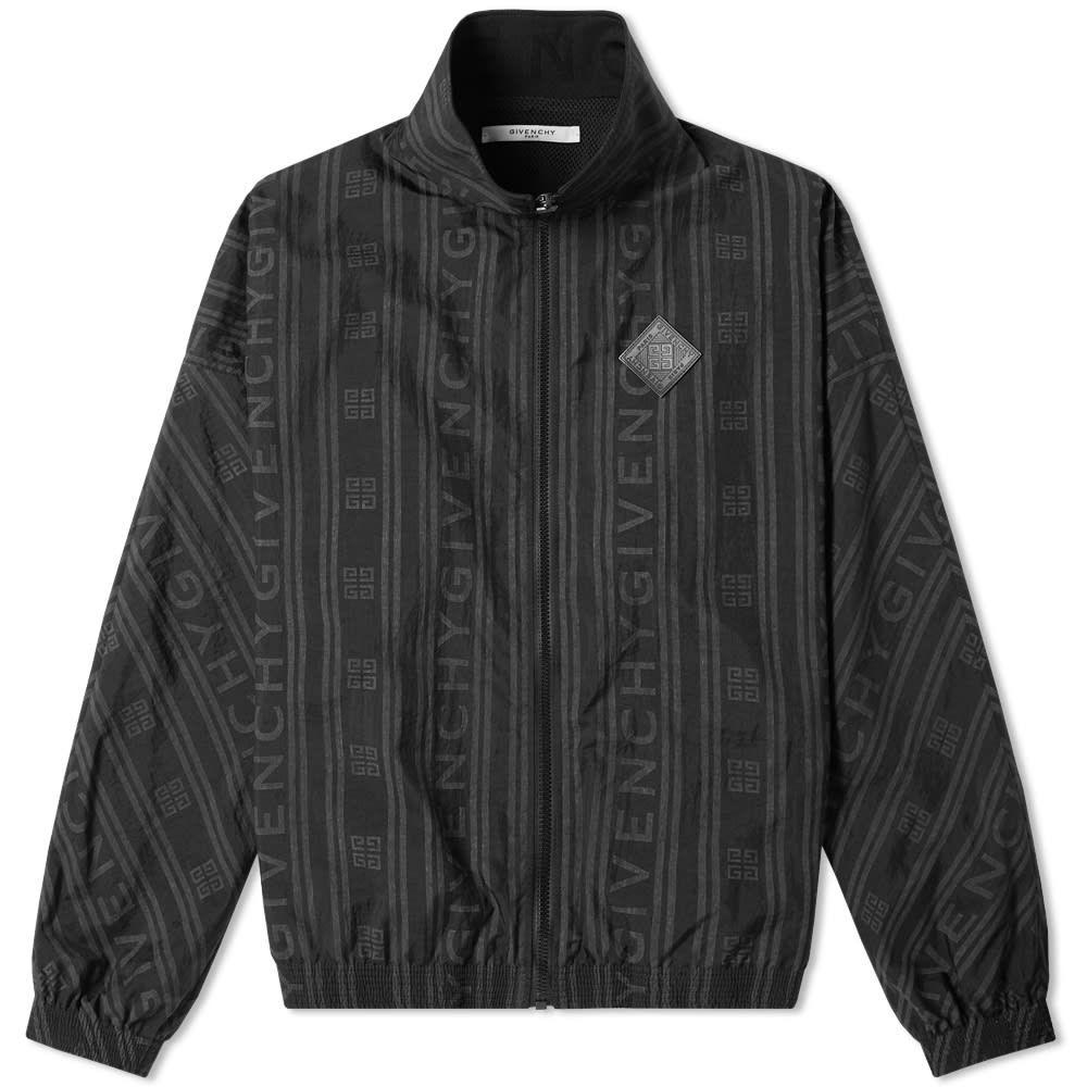 ジバンシー Givenchy メンズ ジャージ アウター【jacquard logo track jacket】Black