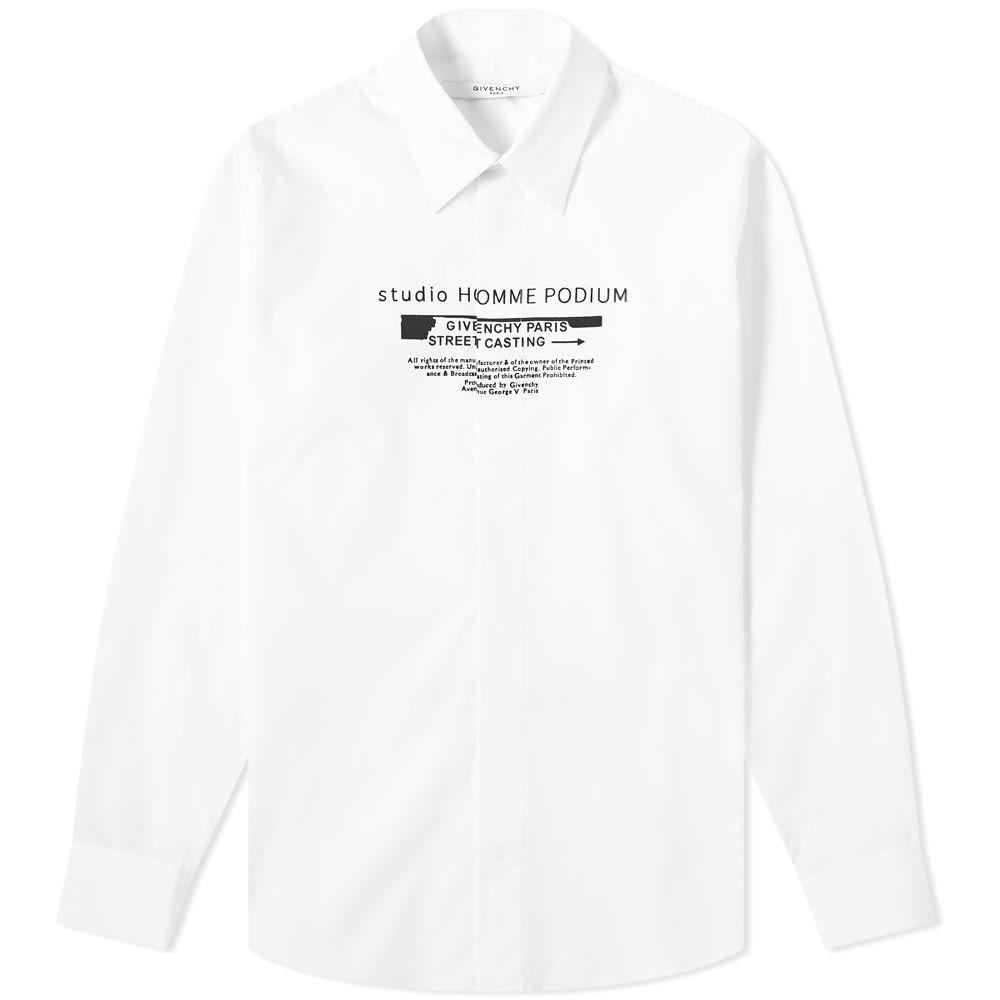 ジバンシー Givenchy メンズ シャツ トップス【studio homme print shirt】White