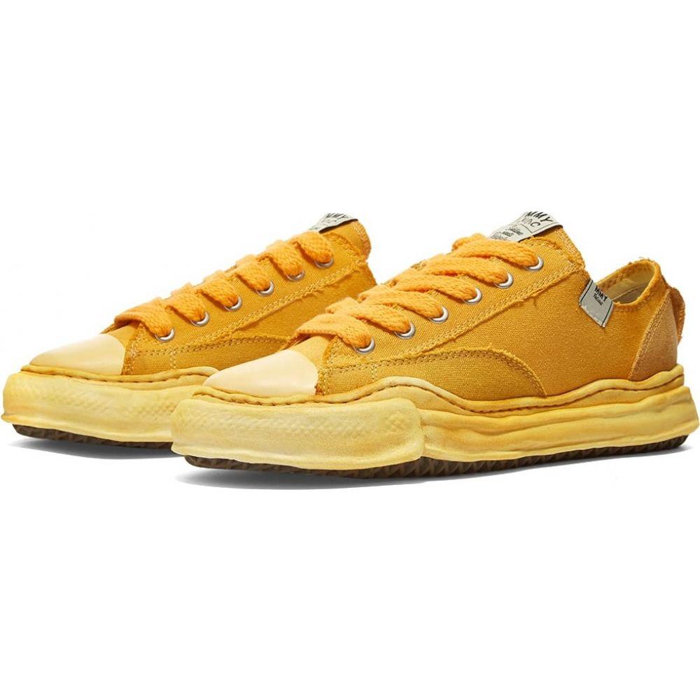 ナイジェルケーボン メンズ シューズ 靴 スニーカー Yellow 全店販売中 爆売りセール開催中 サイズ交換無料 Nigel x overdyed ローカット cut mihara low Cabourn sneaker