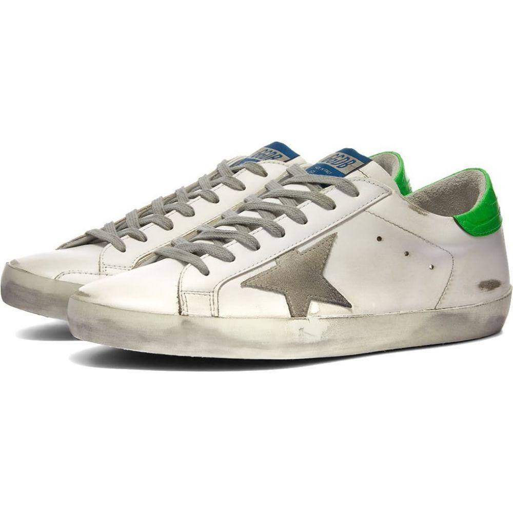 ゴールデン グース メンズ シューズ 靴 スニーカー White Ice Green Fluro goose Deluxe golden Golden sneaker サイズ交換無料 割引も実施中 Goose Brand 送料無料 激安 お買い得 キ゛フト superstar leather