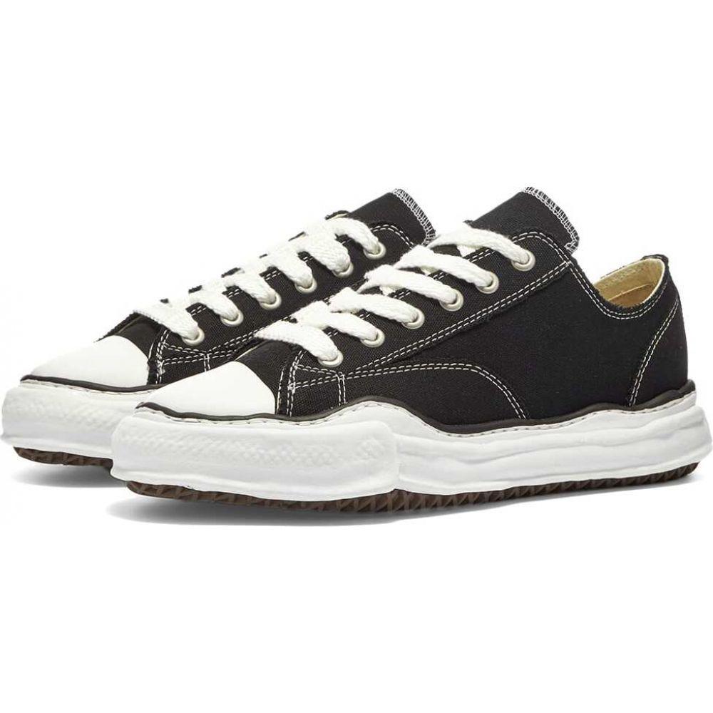 ミハラ ヤスヒロ メンズ シューズ 靴 スニーカー Black サイズ交換無料 Maison low 交換無料 YASUHIRO original 高い素材 ローカット MIHARA sneaker sole canvas