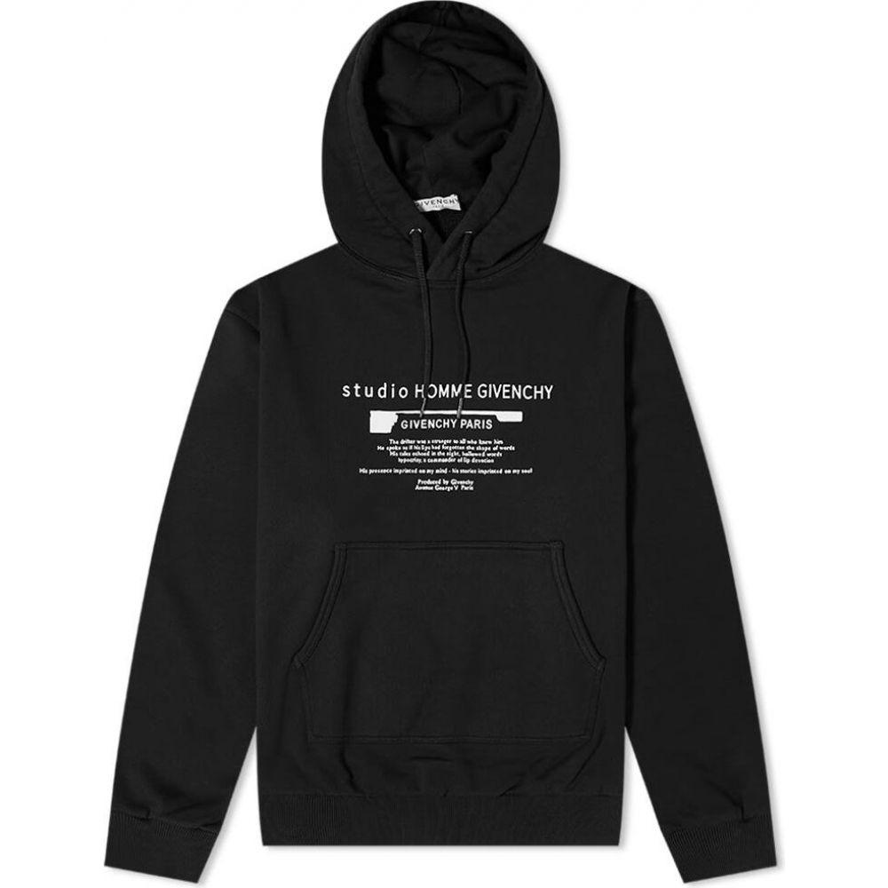 贅沢 ジバンシー Givenchy メンズ パーカー トップス【oversized studio homme print hoody】Black, 登米町 66712a86