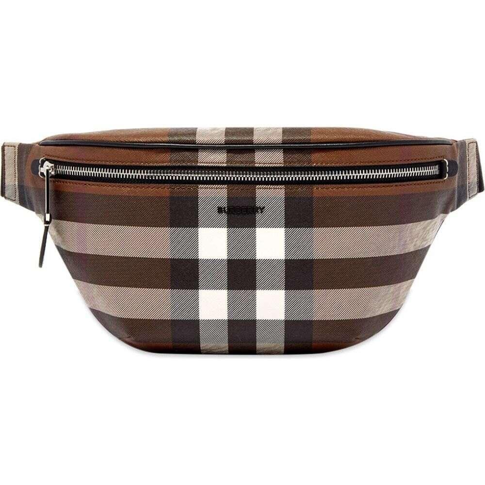 <title>バーバリー メンズ 値引き バッグ ボディバッグ ウエストポーチ Dark Birch Brown サイズ交換無料 Burberry cason check waistbag</title>