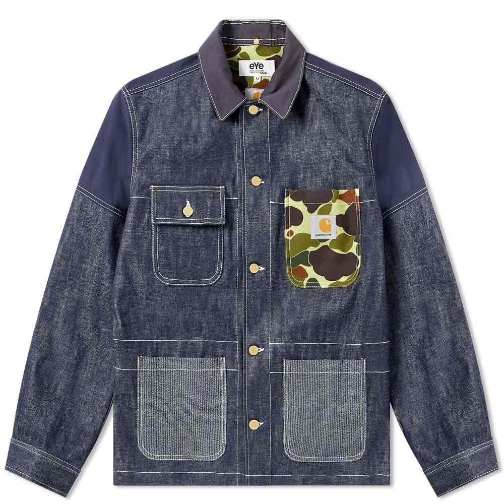 ジュンヤ ワタナベ Junya Watanabe MAN メンズ ジャケット アウター【eye x carhartt customised chore jacket】Indigo Camo
