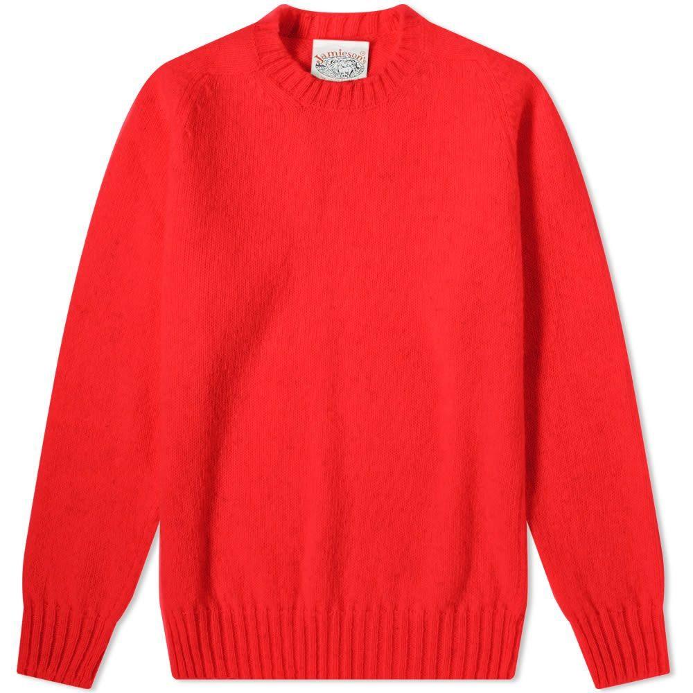 数量は多い  ジャミーソンズオブシェトランド crew Jamiesons knit】Scarlet of Shetland メンズ ニット メンズ・セーター トップス【jamieson