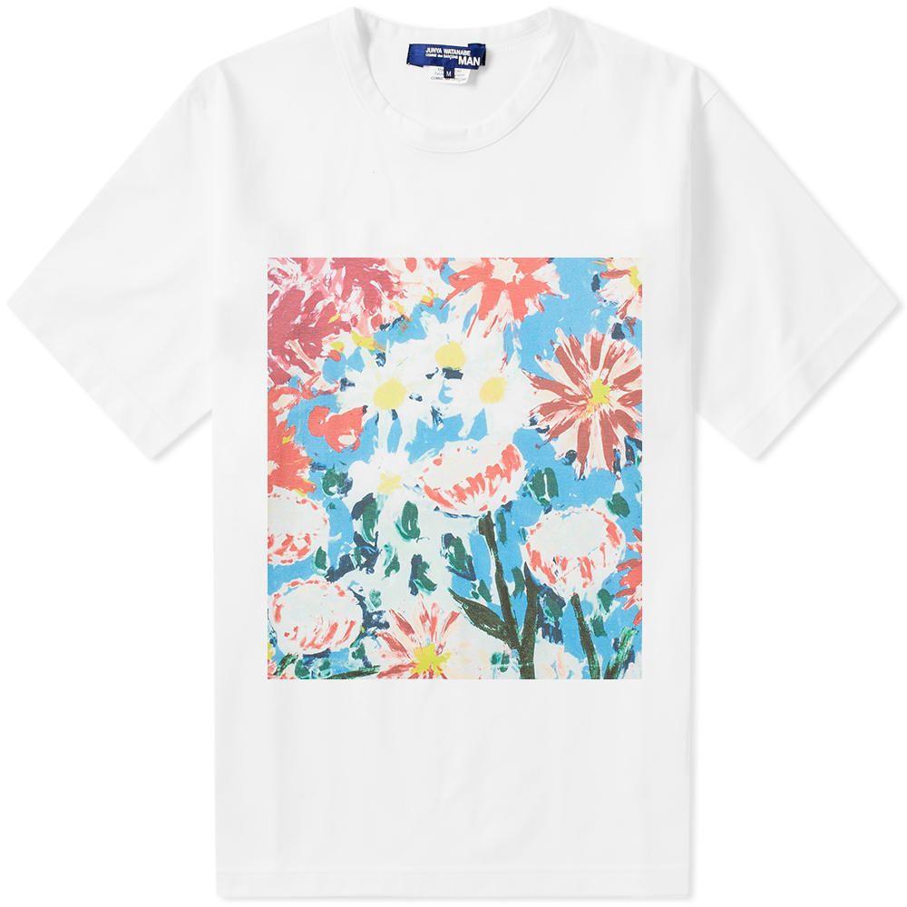 ジュンヤ ワタナベ Junya Watanabe MAN メンズ Tシャツ トップス【floral print tee】White/Multi