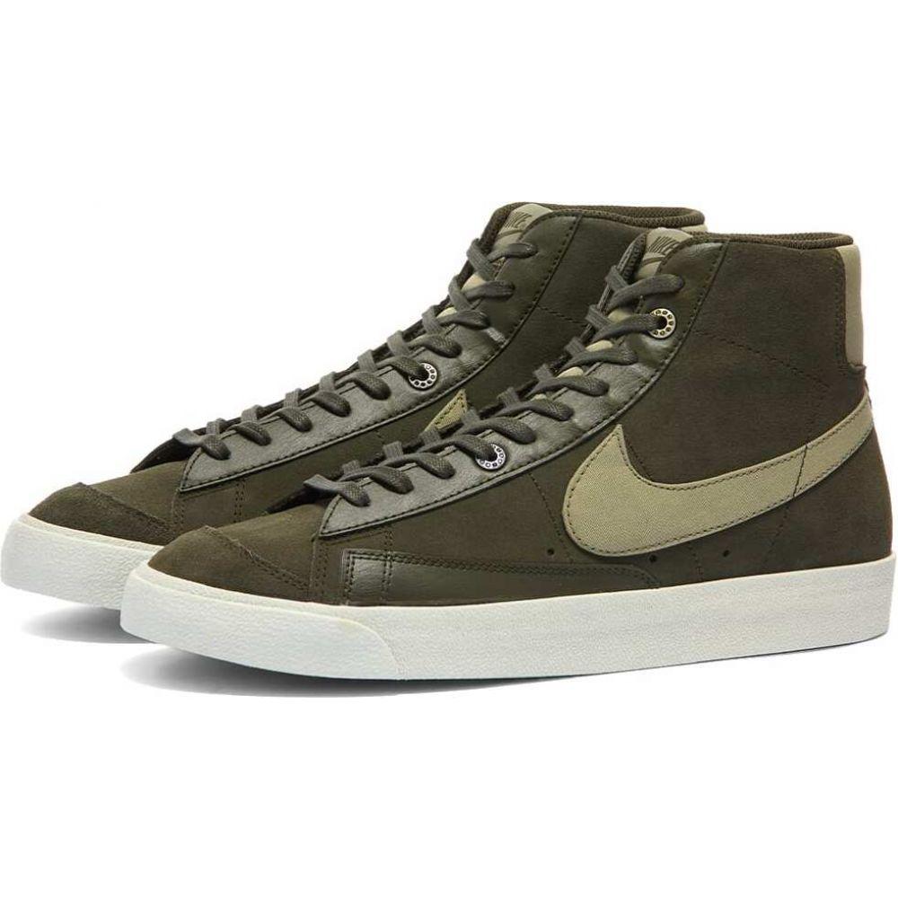 ナイキ メンズ シューズ 靴 スニーカー Sequoia Army mid オンラインショップ blazer '77 Nike Silver サイズ交換無料 高級
