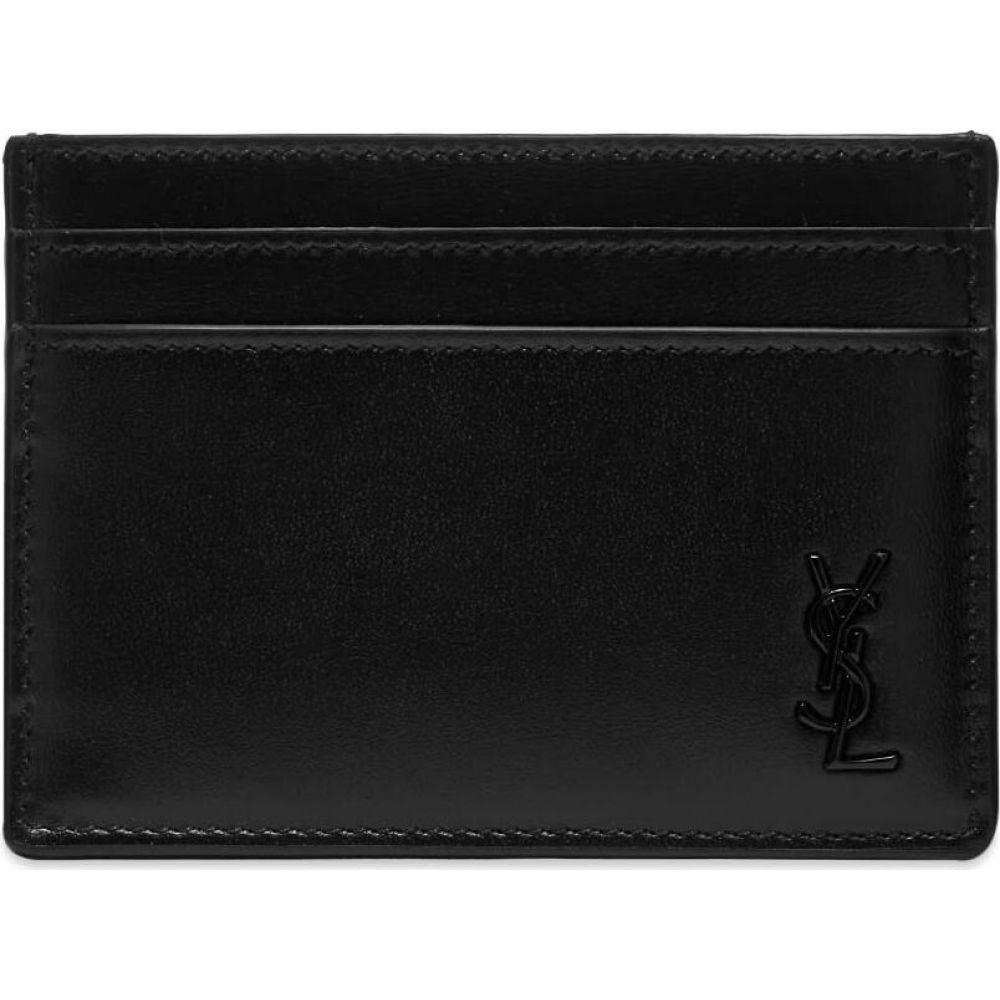 安い購入 イヴ Card サンローラン Laurent Saint Laurent メンズ カードケース・名刺入れ カードホルダー【Tiny Monogram Monogram Card Holder】Black, TiCTAC:2071a23f --- gerber-bodin.fr