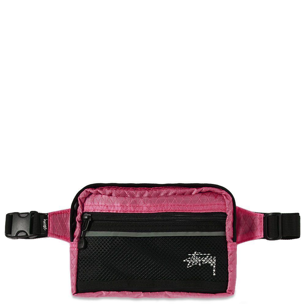 ステューシー Stussy メンズ ボディバッグ・ウエストポーチ バッグ【diamond ripstop waist bag】Berry