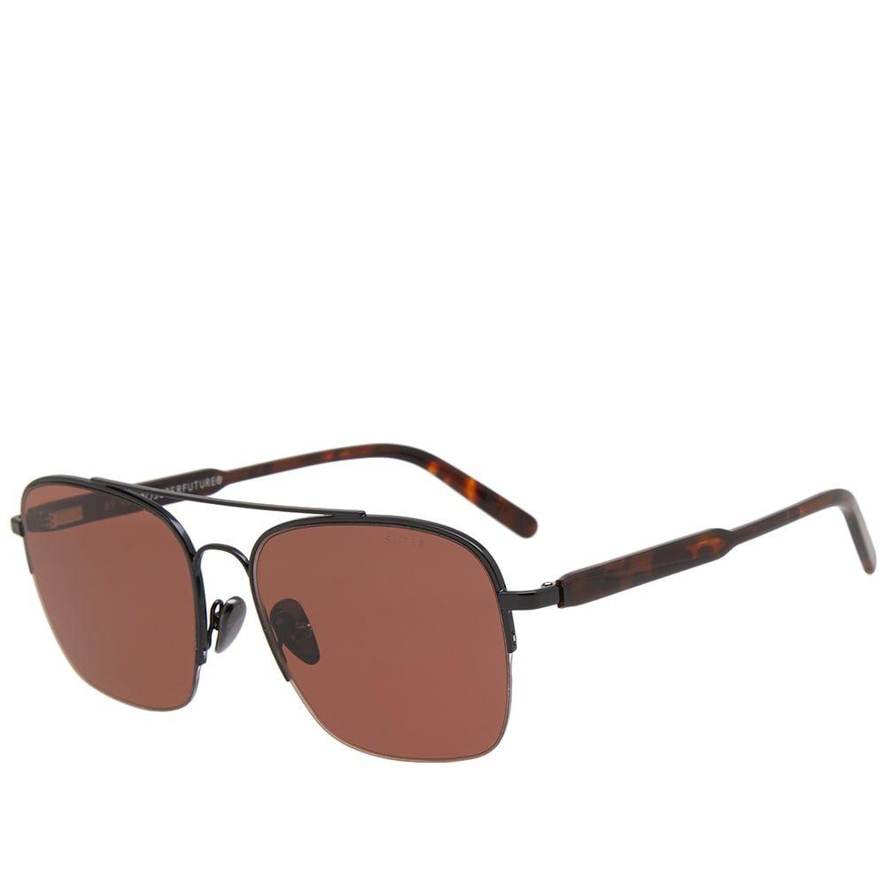 スーパー SUPER メンズ メガネ・サングラス【by RETROFUTURE Adamo Sunglasses】Warm Brown