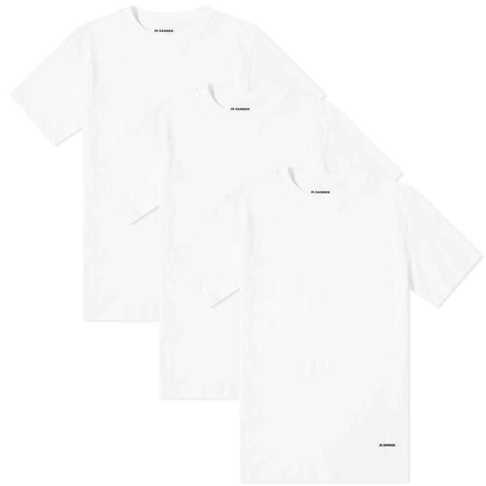 ジル サンダー Jil Sander メンズ Tシャツ 3点セット トップス【jil sander+ tee - 3 pack】Ultra White
