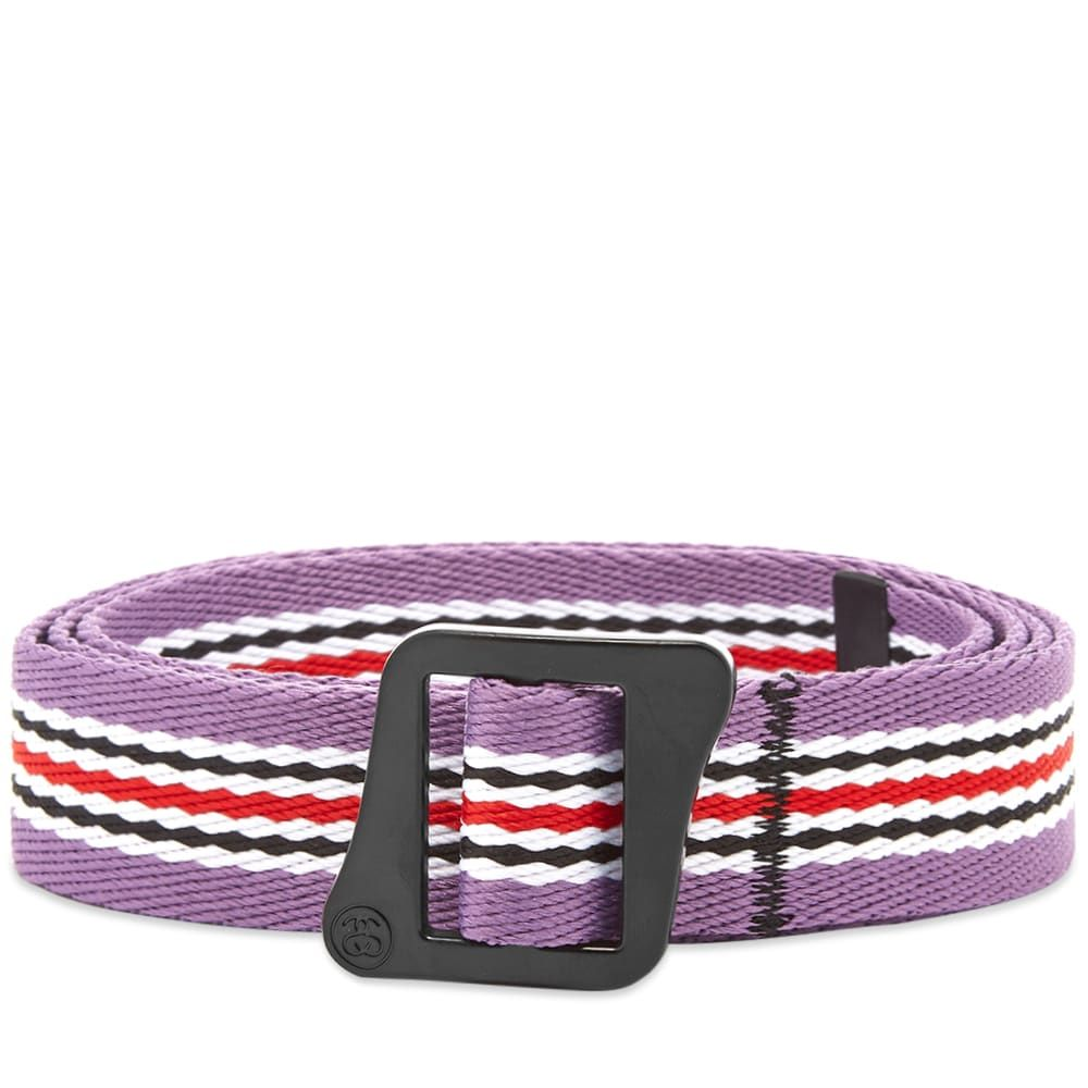 ステューシー Stussy メンズ ベルト 【striped climbing web belt】Berry