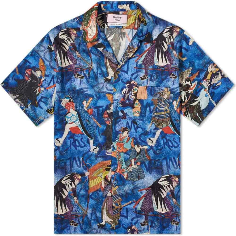 【海外限定】 マーティン ローズ Martine Rose メンズ 半袖シャツ トップス【Vacation Shirt】Blue/Red, 幸せの店 05cf2e4b
