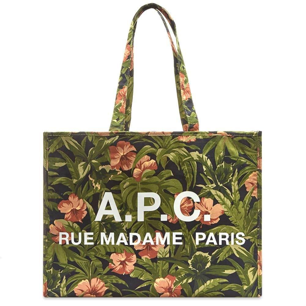 アーペーセー A.P.C. メンズ トートバッグ バッグ【floral print logo shopper bag】Multi