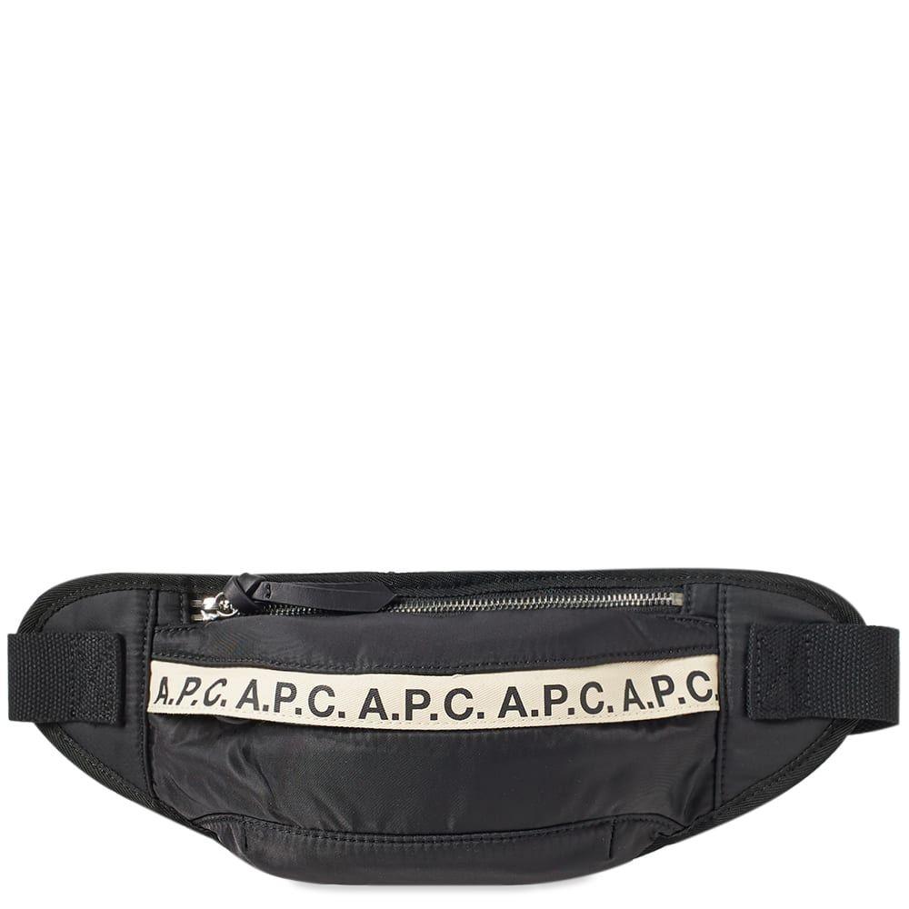 アーペーセー A.P.C. メンズ ボディバッグ・ウエストポーチ バッグ【lucille tape logo waist bag】Black/White