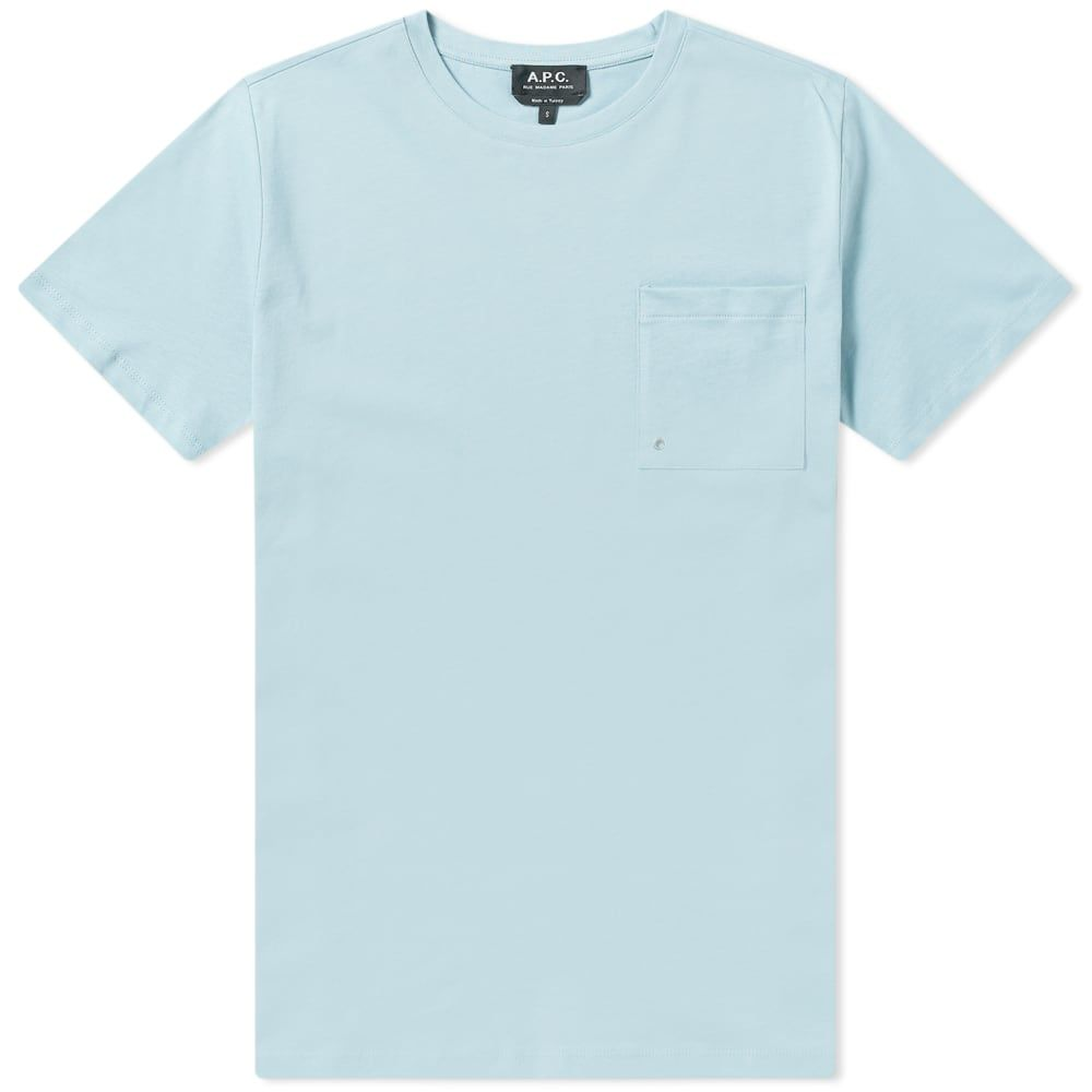 アーペーセー A.P.C. メンズ Tシャツ ポケット トップス【pocket tee】Blue