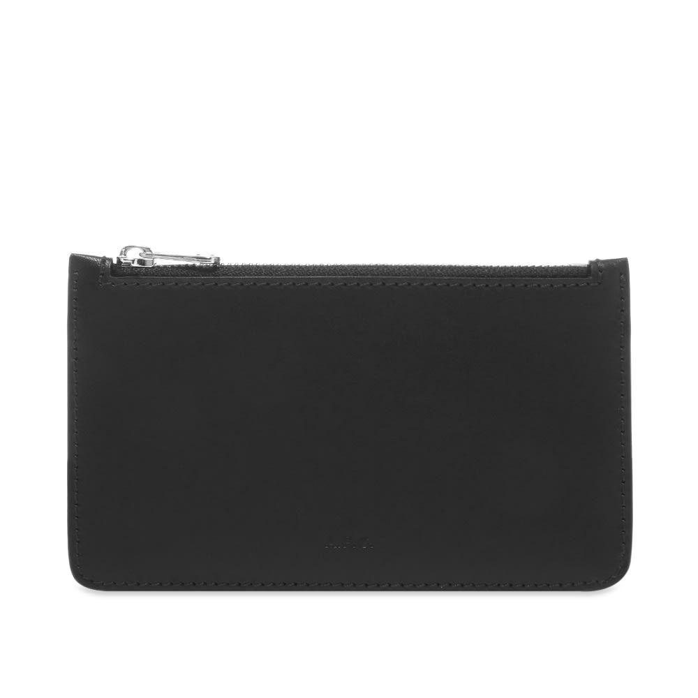 アーペーセー A.P.C. メンズ カードケース・名刺入れ 【walter zip card wallet】Black