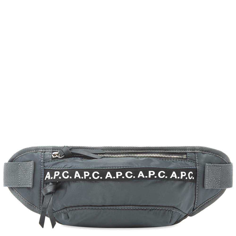 アーペーセー A.P.C. メンズ ボディバッグ・ウエストポーチ バッグ【lucille tape logo waist bag】Grey
