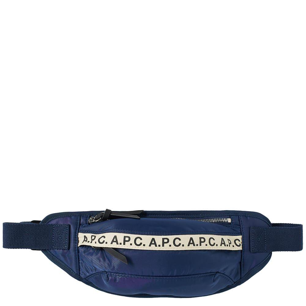 アーペーセー A.P.C. メンズ ボディバッグ・ウエストポーチ バッグ【lucille tape logo waist bag】Navy