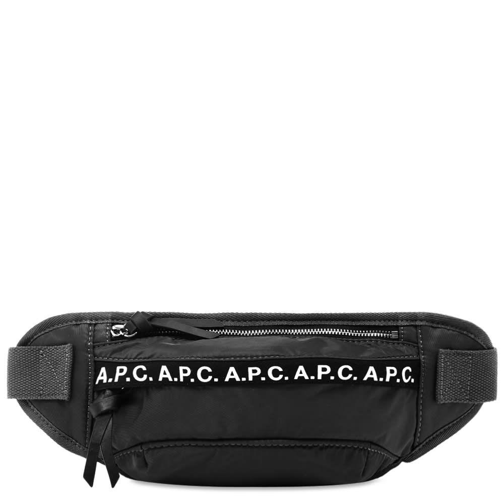 アーペーセー A.P.C. メンズ ボディバッグ・ウエストポーチ バッグ【lucille tape logo waist bag】Black