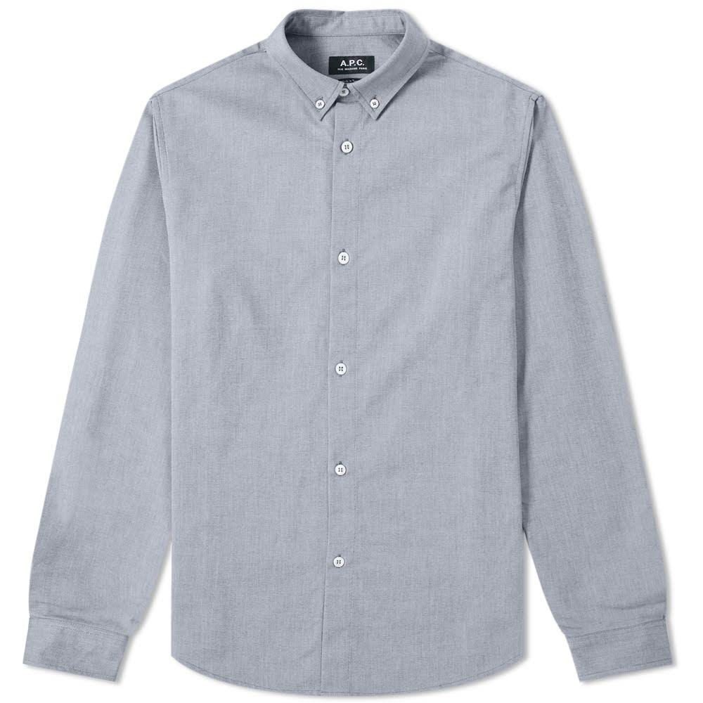 アーペーセー A.P.C. メンズ シャツ トップス【button down oxford shirt】Dark Navy