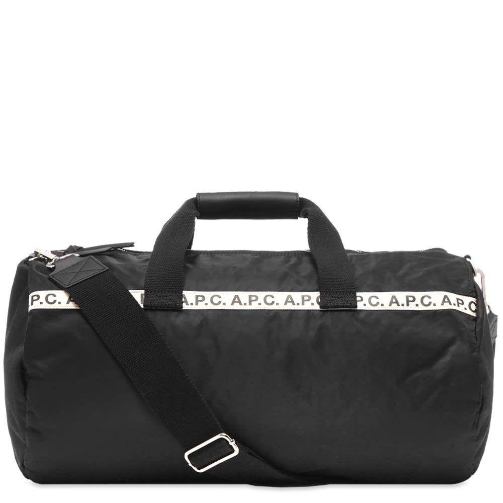アーペーセー A.P.C. メンズ ボストンバッグ・ダッフルバッグ バッグ【maybellene tape logo gym bag】Black