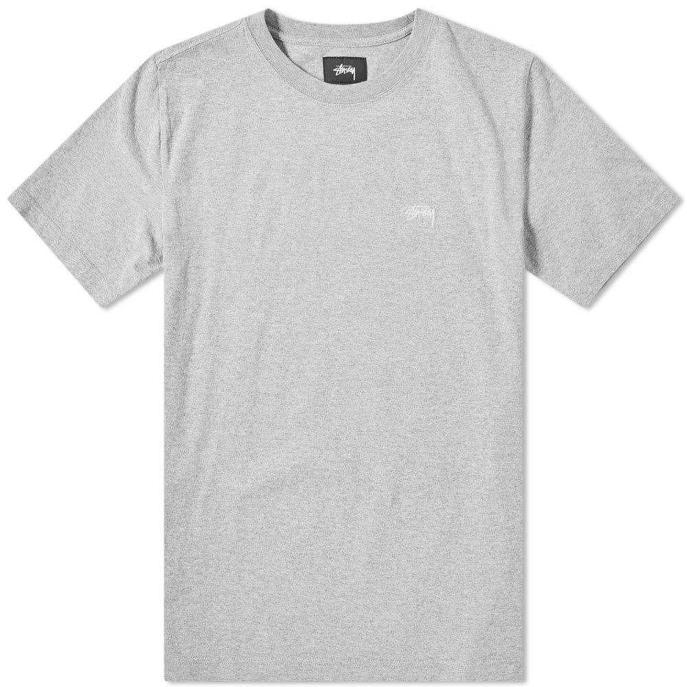 ステューシー Stussy メンズ Tシャツ トップス【stock crew tee】Grey Heather
