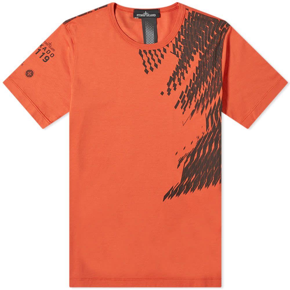 ストーンアイランド Stone Island Shadow Project メンズ Tシャツ トップス【mako jersey print tee】Rust