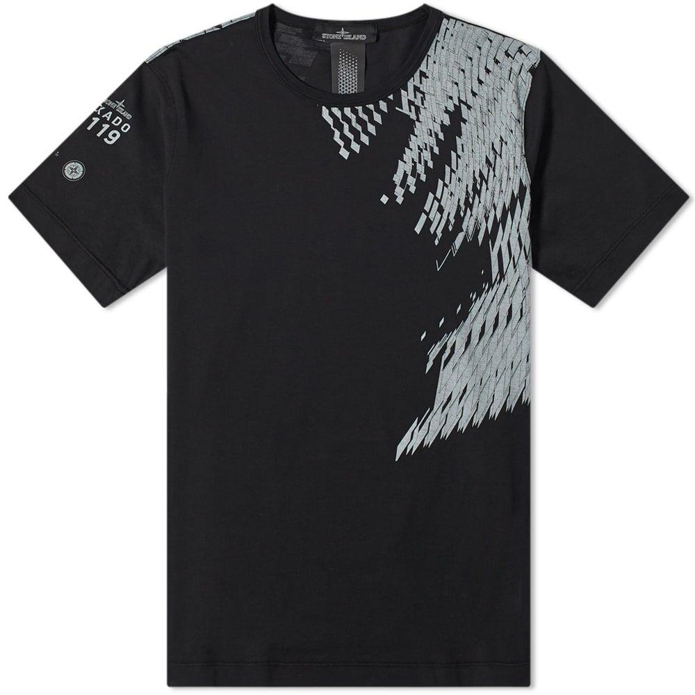 ストーンアイランド Stone Island Shadow Project メンズ Tシャツ トップス【mako jersey print tee】Black