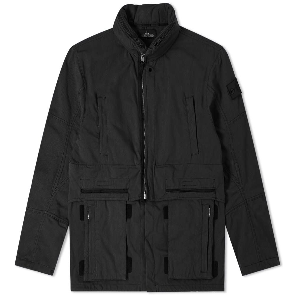 ストーンアイランド Stone Island Shadow Project メンズ ジャケット アウター【hollow core concealed hood jacket】Black