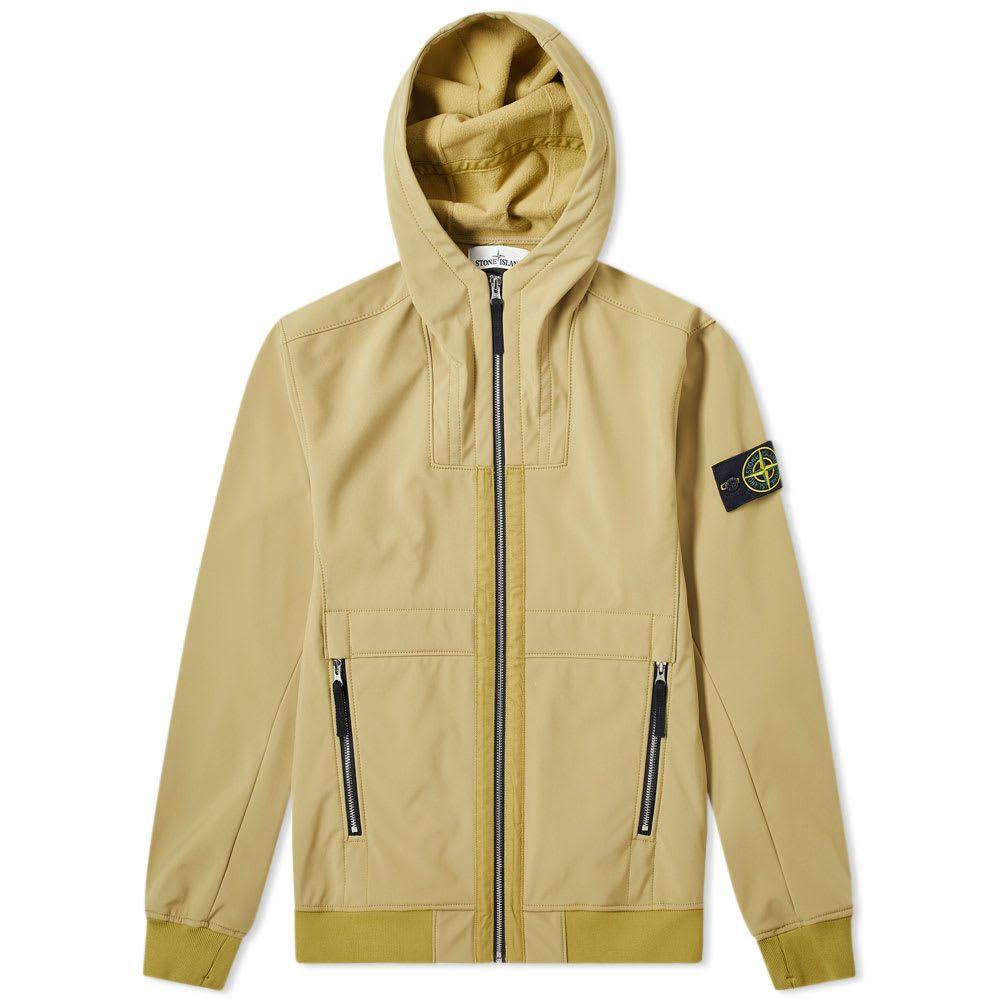 ストーンアイランド Stone Island メンズ ジャケット アウター【soft shell-r hooded jacket】Senape