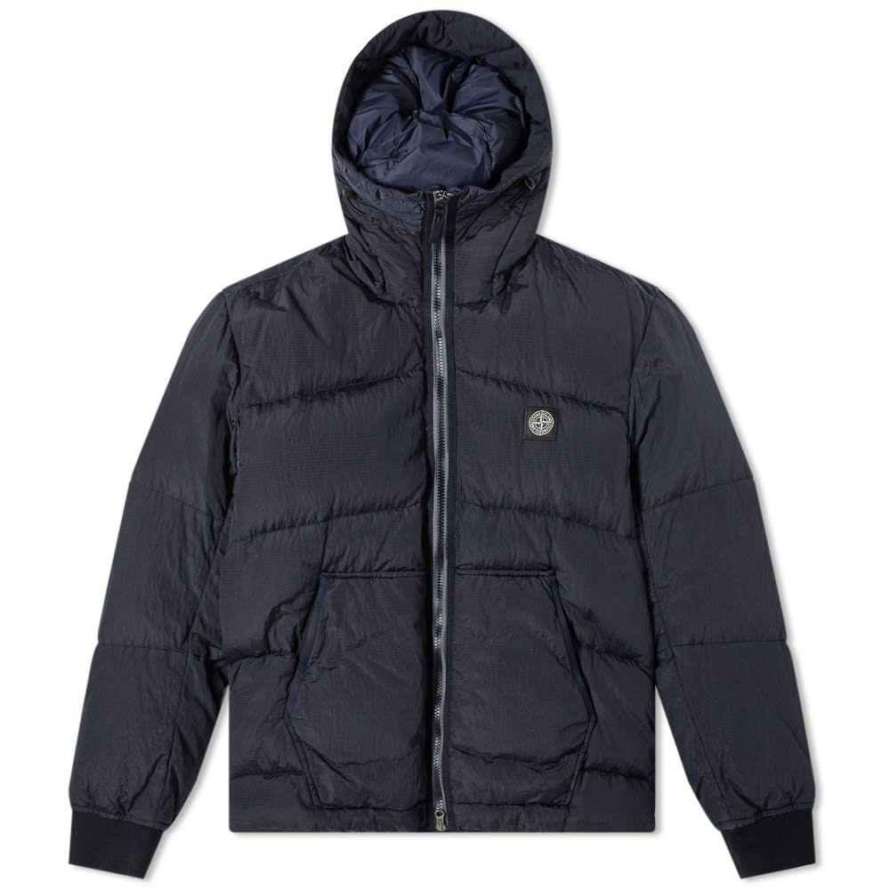ストーンアイランド Stone Island メンズ ダウン・中綿ジャケット アウター【nylon metal watro hooded down jacket】Navy