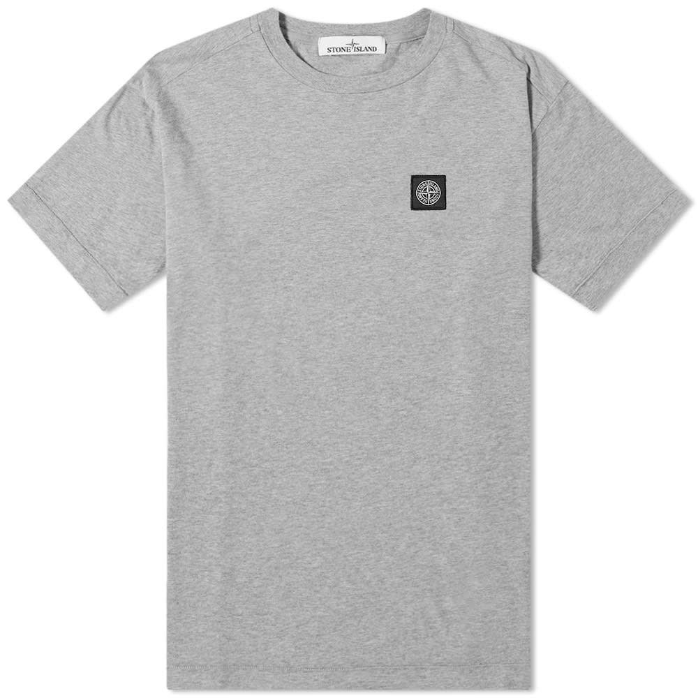 ストーンアイランド Stone Island メンズ Tシャツ ロゴTシャツ トップス【patch logo tee】Grey Marl