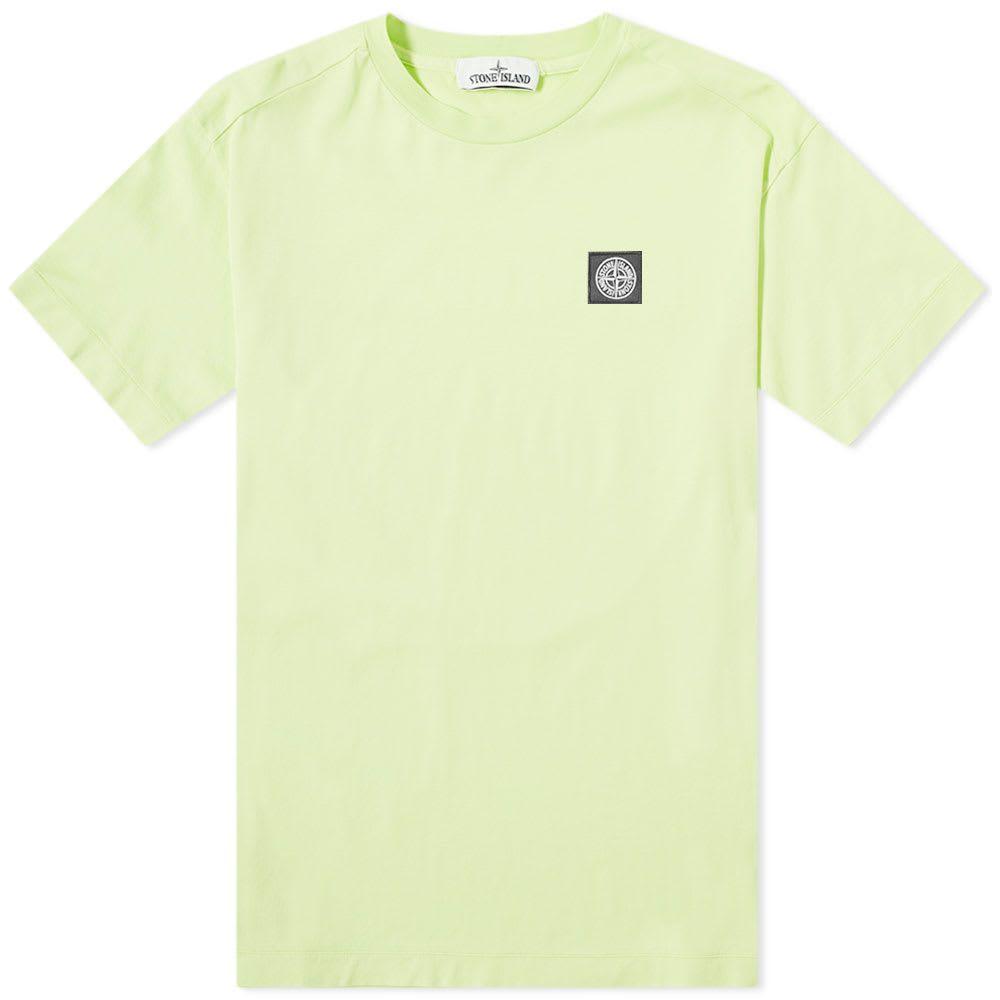 ストーンアイランド Stone Island メンズ Tシャツ ロゴTシャツ トップス【patch logo tee】Pistachio