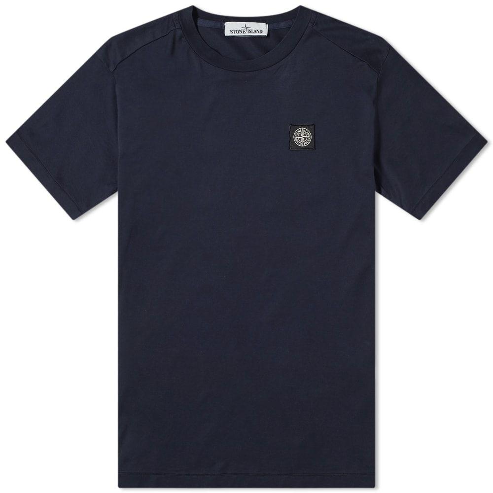 ストーンアイランド Stone Island メンズ Tシャツ ロゴTシャツ トップス【patch logo tee】Navy