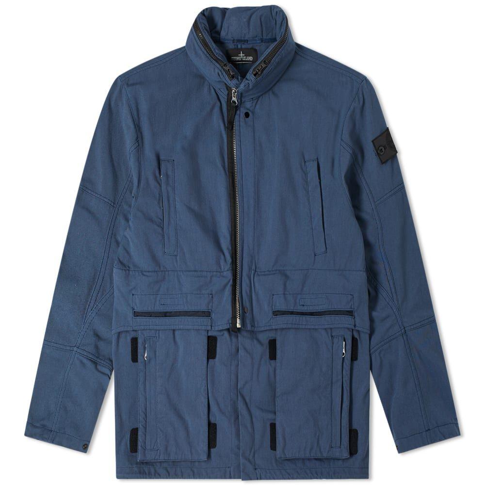 ストーンアイランド Stone Island Shadow Project メンズ ジャケット アウター【hollow core concealed hood jacket】Blue