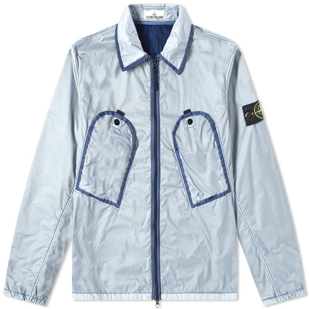ストーンアイランド Stone Island メンズ ジャケット オーバーシャツ アウター【lamy flock pocket zip overshirt】Avio