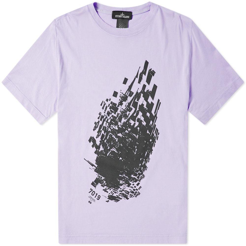 ストーンアイランド Stone Island Shadow Project メンズ Tシャツ トップス【7019 print tee】Lavender