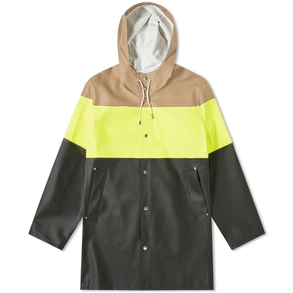 ストゥッテルハイム Stutterheim メンズ レインコート アウター【stockholm striped raincoat】Safety Yellow