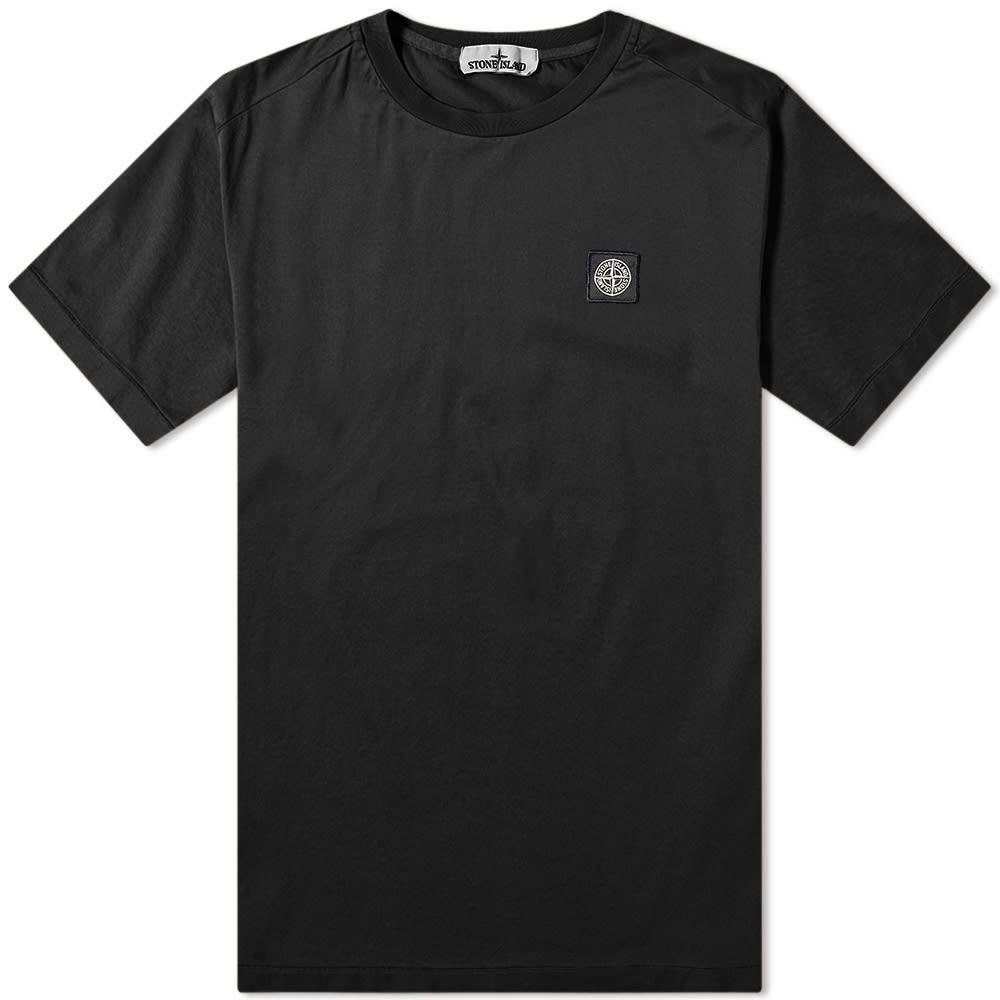 ストーンアイランド Stone Island メンズ Tシャツ ロゴTシャツ トップス【patch logo tee】Black