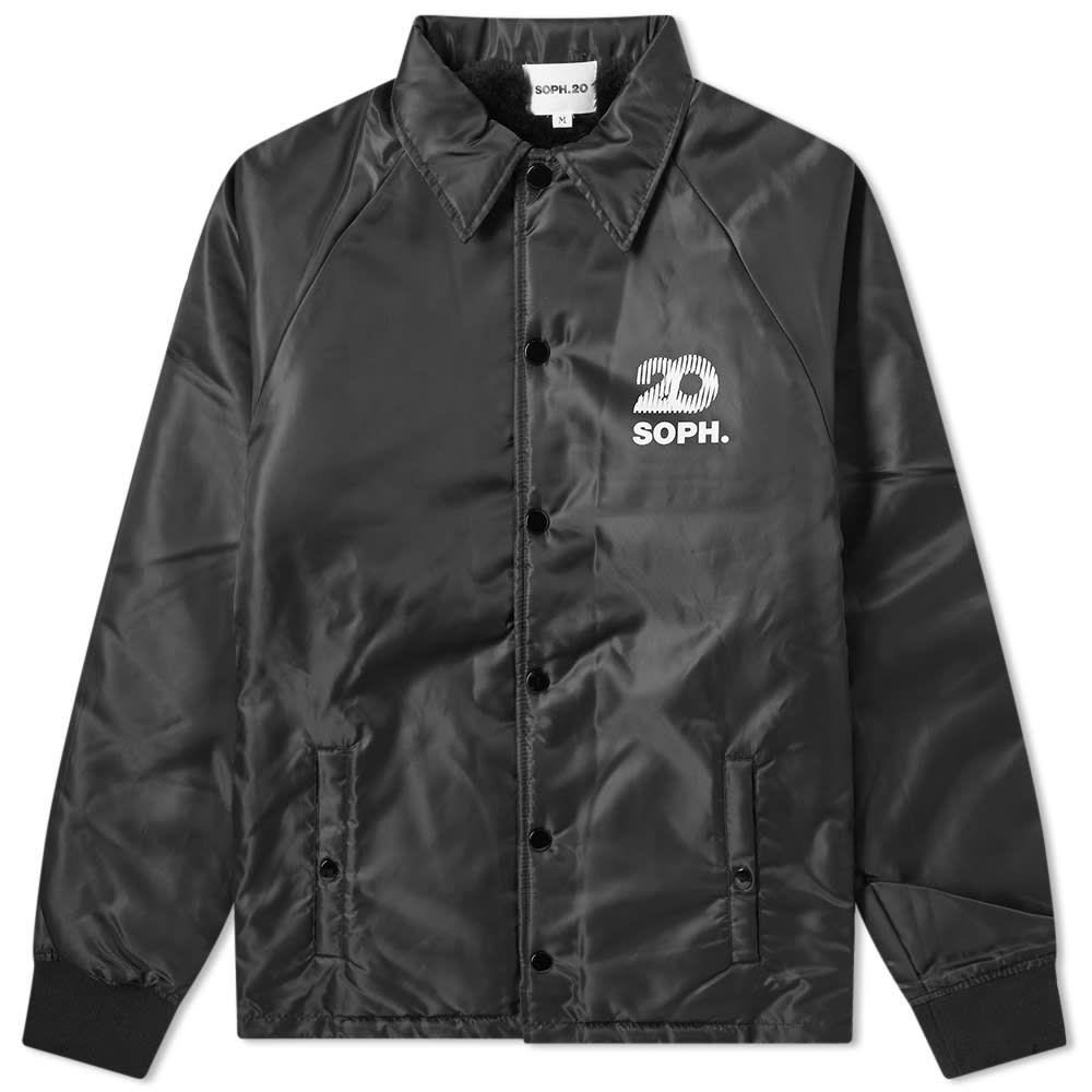 ソフネット SOPHNET. メンズ ジャケット コーチジャケット アウター【soph.20 boa lining coach jacket】Black